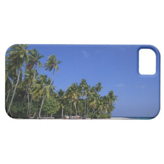 Beach with palm trees, Maldives iPhone SE/5/5s Case