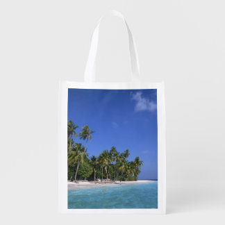 Beach with palm trees, Maldives Market Totes