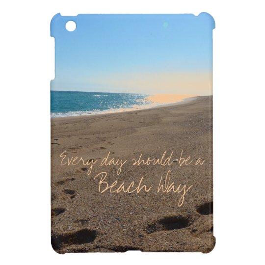 Beach with Quote iPad Mini Cases