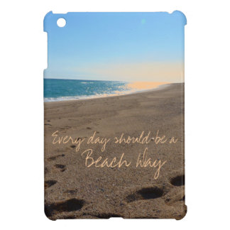 Beach with Quote iPad Mini Cover