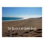 Beach with Quote Print