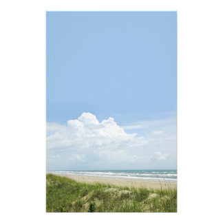 Beach with Sand Dune Stationery Paper