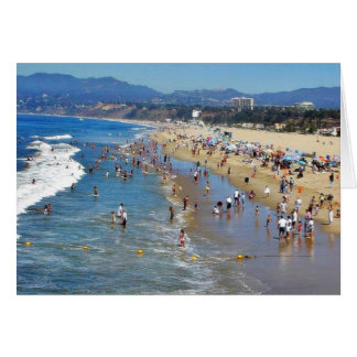 Beach With Surfers Card