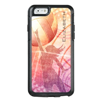 Beach Women's Volleyball Sunset Otterbox Iphone 6/6s Case by katz_d_zynes at Zazzle