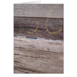 Beach Wood Card