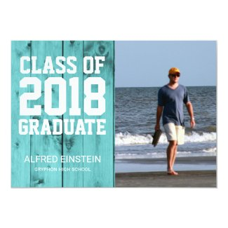 Beach Wood Class of 2018 | Photo Graduation Party Card