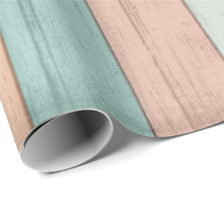 Beach Wood Colors Wrapping Paper