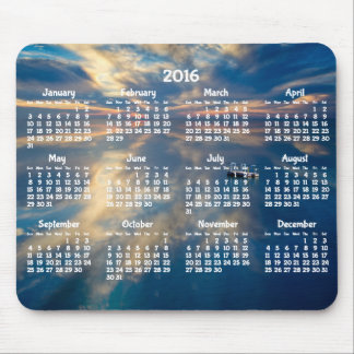 Beach Yearly Calendar 2016 Mouse Pad