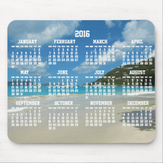 Beach Yearly Calendar 2016 Mouse Pads