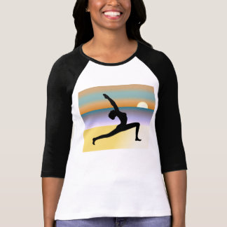 Beach Yoga 3/4 Sleeve Raglan Ladies Top