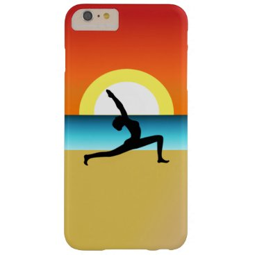 Beach Yoga Warrior Pose Slim Thin 6 6S Vertical Barely There iPhone 6 Plus Case
