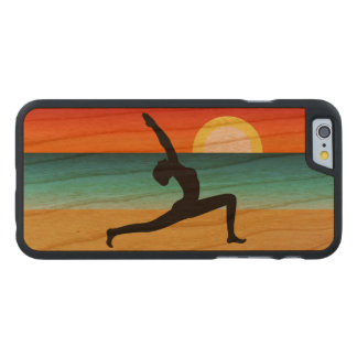 Beach Yoga Warrior Pose Wooden 6 6S Landscape Carved® Cherry iPhone 6 Case