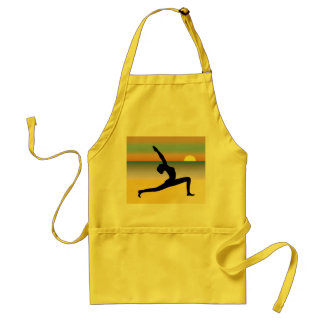 Beach Yoga Woman Posing Silhouette Custom Aprons