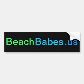 BeachBabes.us - bumper sticker (black)