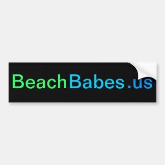 BeachBabes.us - pegatina para el parachoques (negr Pegatina Para Auto
