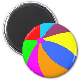 Beachball 2 Inch Round Magnet