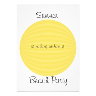 Beachball Summer Party Invite