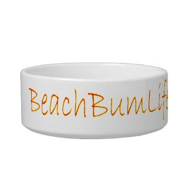Beach Themed BeachBumLife Pet Bowl