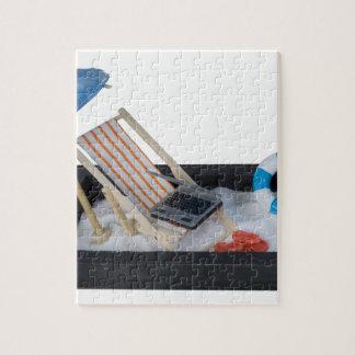 BeachChairUmbrellaLaptopSand011815.png Jigsaw Puzzle