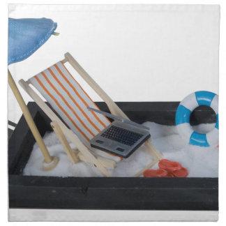 BeachChairUmbrellaLaptopSand011815.png Napkin