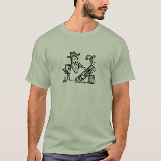 Beachcomber Carving a tiki T-Shirt