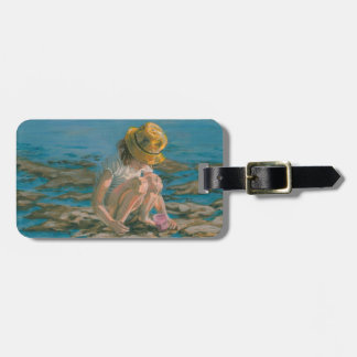 Beachcomber, Girl Collecting Shells Bag Tag