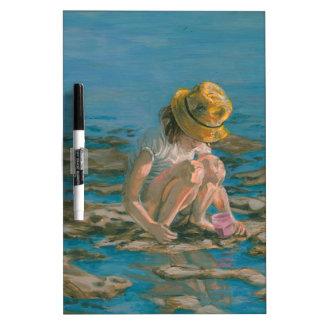 Beachcomber, Girl Collecting Shells Dry Erase Board