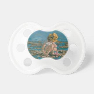 Beachcomber, Girl Collecting Shells Pacifier