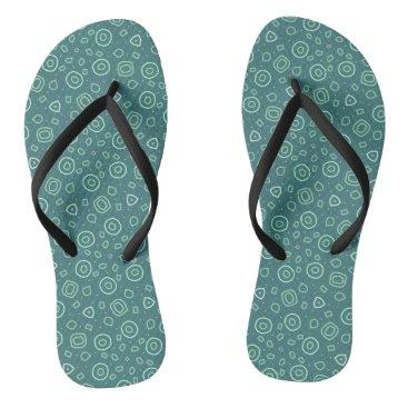 Beach Themed Beachcomber shapes in green flip flops