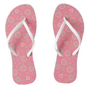 Beach Themed Beachcomber shapes in pink flip flops