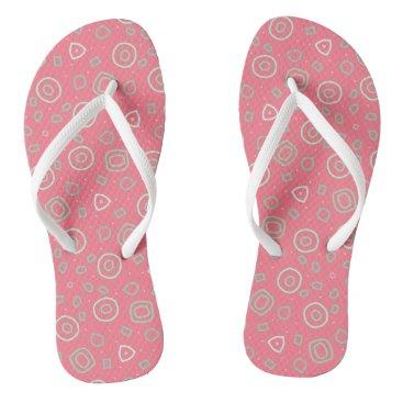 Beach Themed Beachcomber shapes in pink flip flops
