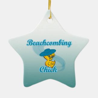 Beachcombing Chick #3 Christmas Ornament