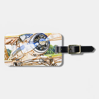 Beachcraft Staggerwing Vintage aircraft Bag Tag