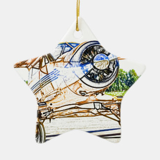 Beachcraft Staggerwing Vintage aircraft Ceramic Ornament