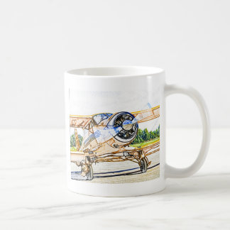 Beachcraft Staggerwing Vintage aircraft Coffee Mug