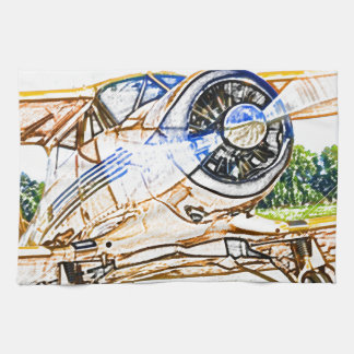 Beachcraft Staggerwing Vintage aircraft Hand Towels