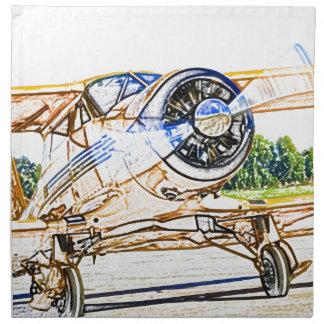 Beachcraft Staggerwing Vintage aircraft Napkin