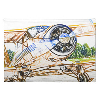 Beachcraft Staggerwing Vintage aircraft Placemat