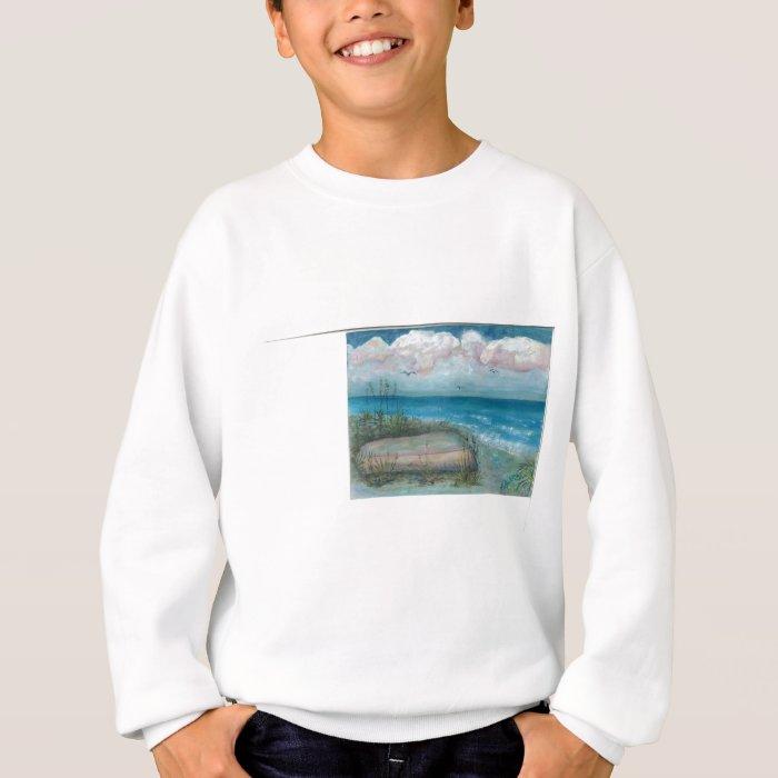 Beache Scene Indian Rocks Beach, FL Art Sweatshirt