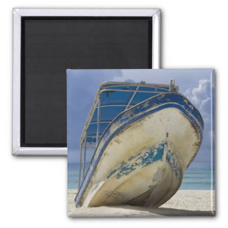 Beached Boat 2 Inch Square Magnet