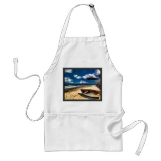 Beached Boat Before the Storm Adult Apron