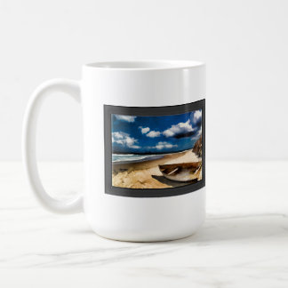 Beached Boat Before the Storm Coffee Mug