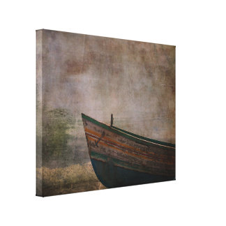 Beached Dinghy Canvas Print