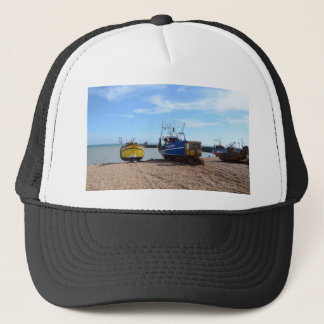 Beached Fishing Boats Trucker Hat