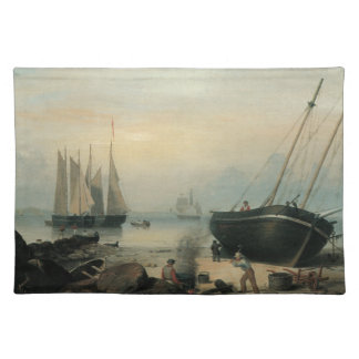 Beached for Repairs, Duncan's Point, Gloucester Cloth Placemat