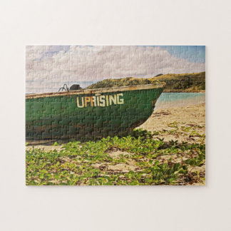 Beached Island Boat Jigsaw Puzzle