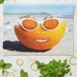 Beached Orange Hand Towels