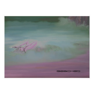 beached (pastel) poster