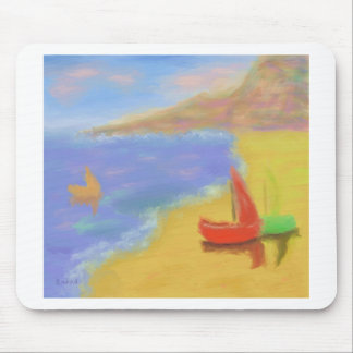 Beached Sail Boats Mouse Pad