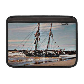 Beached Schooner MacBook Sleeve
